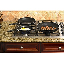 Aluminum Black 3-piece Nonstick Frypan Set