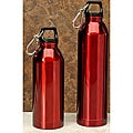Red Stainless Steel Water Bottles (Pack of 2)