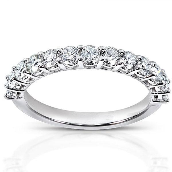 Annello 14k White Gold 3/4ct TDW Diamond Wedding Band (H-I, I1-I2)