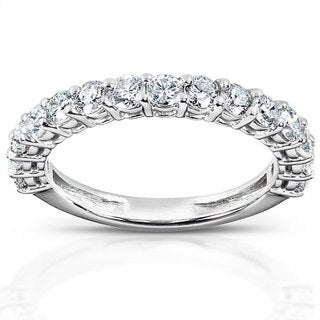Annello 14k White Gold 1ct TDW Diamond Wedding Band (H-I, I1-I2)