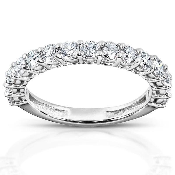 Annello 14k White Gold 1ct TDW Diamond Wedding Band (H-I, I1-I2)