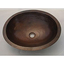 Copper Large Oil Rubbed Bronze Oval Sink