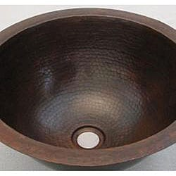 Hand-hammered Oil Rubbed Bronze Round Sink