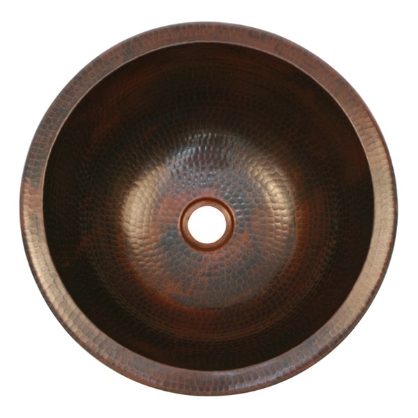 Hand-hammered Oil Rubbed Bronze Round Sink