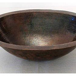 Copper 16-inch Oil Rubbed Bronze Oval Sink