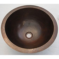 Copper 16-inch Oil Rubbed Bronze Finish Round Sink