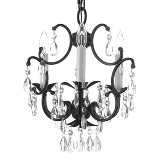 Versailles 3-light Black Crystal Mini Chandelier