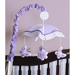 Lavender Butterfly Musical Mobile