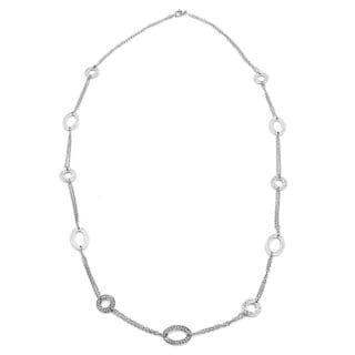 Stainless Steel Fret Curb Chain Necklace
