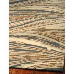 Handmade Thom Filicia Niagra Blue N.Z. Wool Rug (8' x 10')