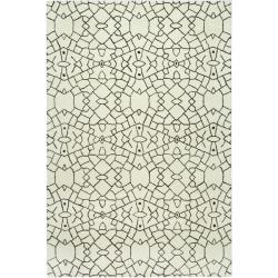 Handmade Thom Filicia Jasper Crackel Dune N.Z. Wool Rug (5' x 8')