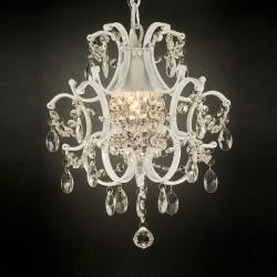 Versailles 1-light White/ Crystal Mini Chandelier