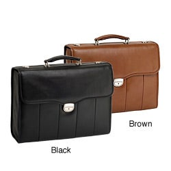 McKlein North Park Leather Executive Laptop Briefcase