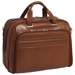 McKlein Springfield Leather Fly-through Checkpoint-friendly 17-inch Laptop Case