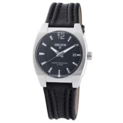 Hector H France Men's 'Fashion' Leather Strap Watch