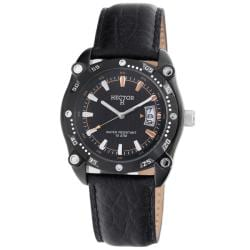 Hector France Men's 'Fashion' Black Stainless Steel Watch