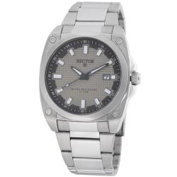 Hector H France Men's 'Fashion' Gray-Dial Stainless-Steel Quartz Watch