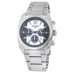 Hector H France Men's 'Fashion' Black and White Chronograph Watch
