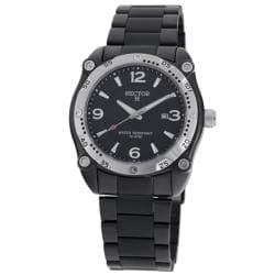 Hector H France Men's 'Fashion' Black Stainless-Steel Quartz Watch