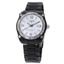 Hector H France Men's 'Fashion' Black Stainless Steel Watch