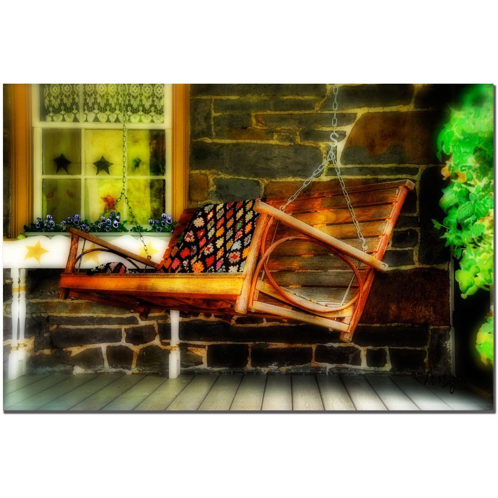 Lois Bryan 'Swing Me' Small Canvas Art