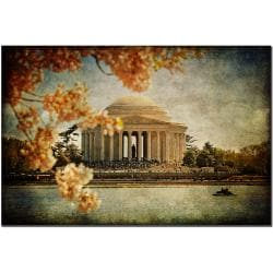 Lois Bryan 'Jefferson Memorial' Canvas Art