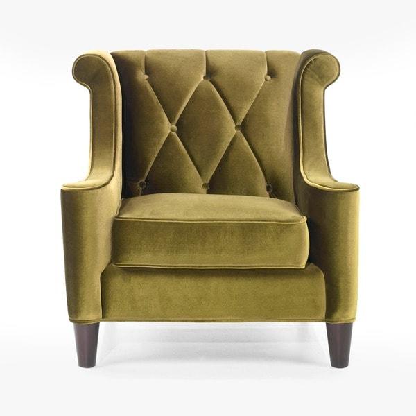 Modern Green Velvet Chair