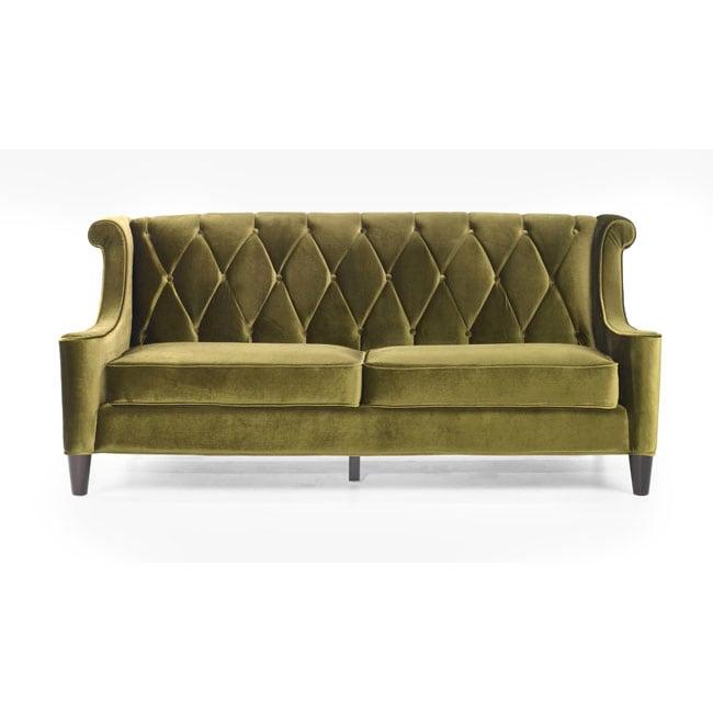 Modern Green Velvet Sofa