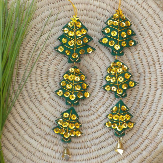 Set of 2 Christmas Tree Ornaments (Thailand)