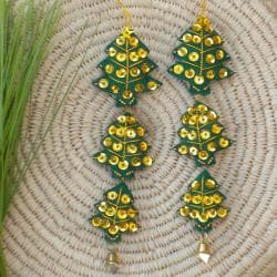 Set of 2 Christmas Tree Ornaments (Thailand)