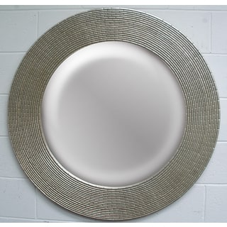 Round Framed Silver Wall Mirror