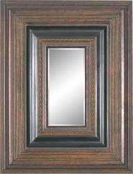 Rectangular 8 x 16 Framed Dark Gold and Black Decorative Wall Mirror