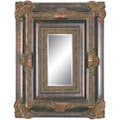 Rectangular Framed Dark Gold Decorative Wall Mirror
