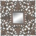 Rectangular Framed Dark Gold Wall Mirror