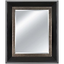 Rectangular Framed Burnt Espresso Wall Mirror