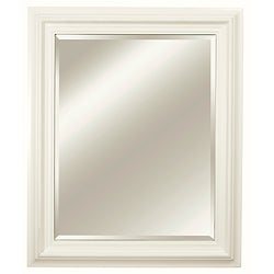 Rectangular Framed Off White Vanity Mirror