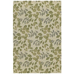Home and Porch Indoor/ Outdoor Ivory Rug (5' x 7'6)