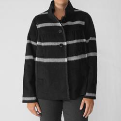 Focus 2000 Women's Wool Blend Plaid Coat