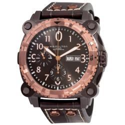 Hamilton Men's 'Khaki Navy BelowZero' Black PVD Chronograph Watch