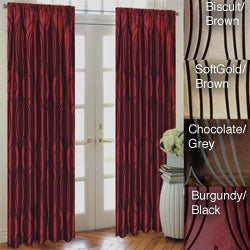 Fusion Flocked Taffeta 96-inch Curtain Panel