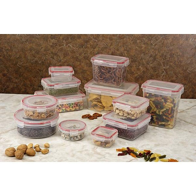 Plastic 24-piece Food Storage Set