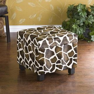 Upton Home Giraffe Faux Leather Storage Ottoman