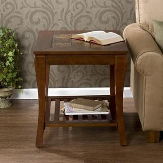 Lovett Brown Cherry Slate End Table