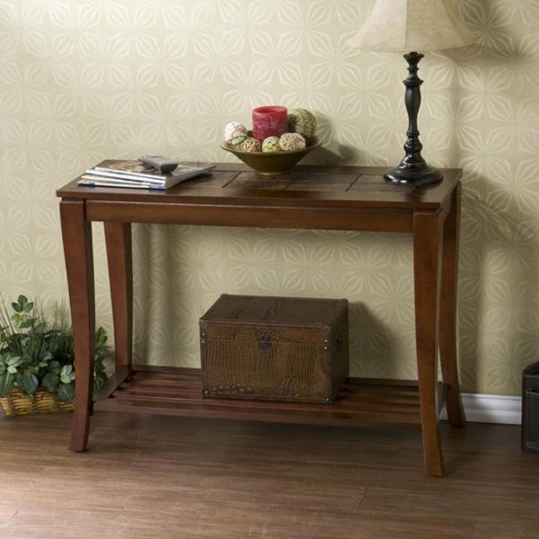 Lovett Brown Cherry Slate Sofa Table