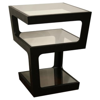 Clara Modern Tall Black 3-tiered End Table