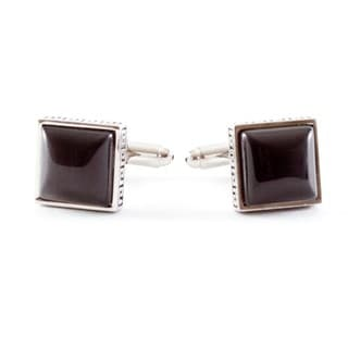 Cuff Daddy Metal Dark Grey Greek-inspired Cuff Links
