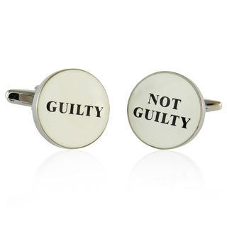 Cuff Daddy Silvertone Metal Scales of Justice Cuff Links