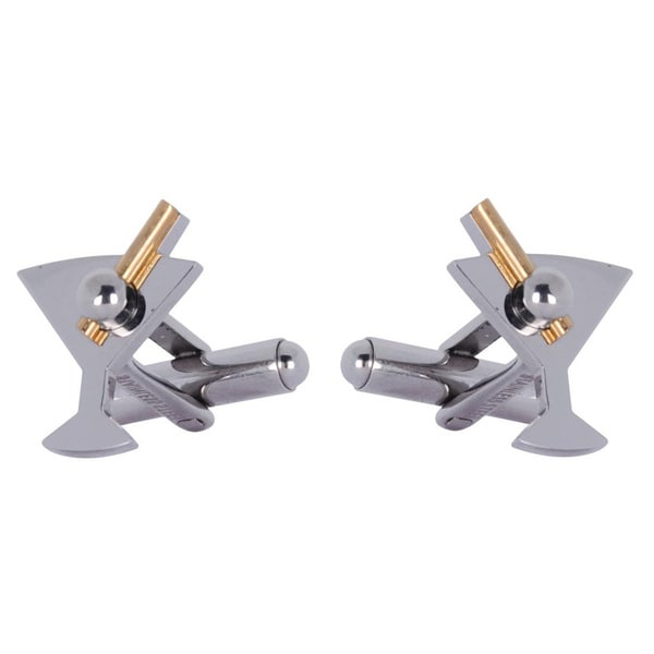 Cuff Daddy Metal Martini and Olive Cuff Links