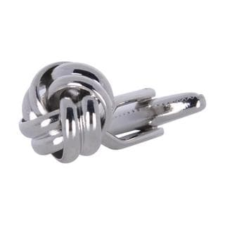 Cuff Daddy Silvertone Metal Knot Cuff Links