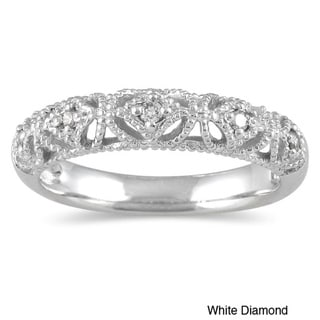 10k White Gold Women's 1/10ct TDW Diamond Ring (I-J, I1-I2)